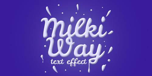 Free Milk Text Effect PSD