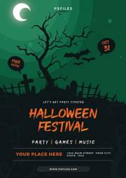 Free Minimal Halloween Festival Flyer - PsFiles