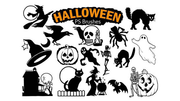 20 Halloween Ps Brushes abr File