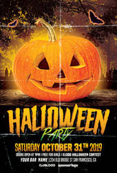 Halloween Party Free PSD Flyer Template PsFile