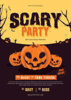 Halloween Scary Party Free PSD Flyer Template