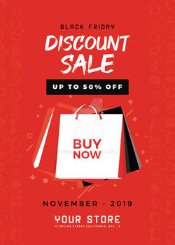 Black Friday Discount Sale Free PSD Flyer Template