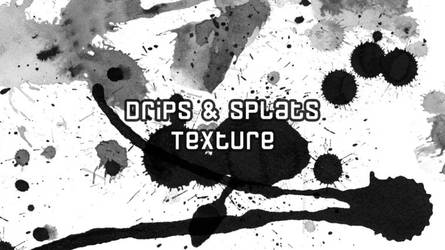 Drips and Splats Texture Ps Brush