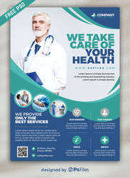 PsFiles Free Health Care Flyer PSD Template