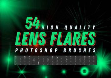 Free 54 Lens Flares Photoshop Brushes Pack