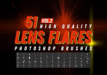 Vol.2 Free Lens Flares Photoshop Brushes