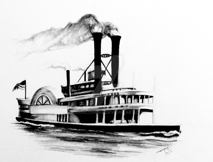 1800'th Century Steamboat by MoralChaos on DeviantArt