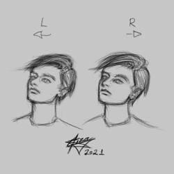 Quick digital ambidextrous sketch