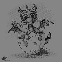 Baby Spyro Sketch