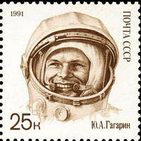 Gagarin stamp 3 by Mihenator