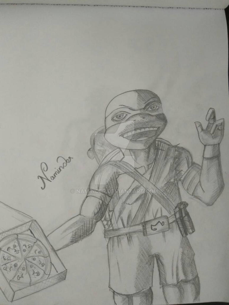 micheal angelo tmnt fan art by Naminder