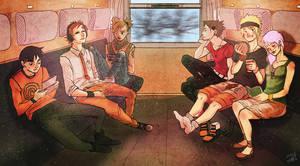 Naruto: Train Journey by niemtold
