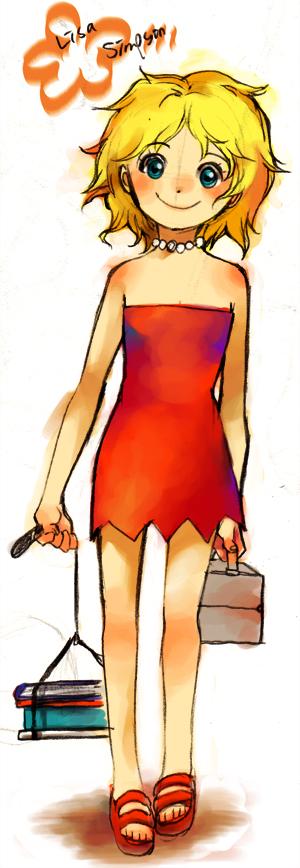 Lisa Simpson in japanese style by mrtea87