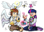 Gym Leaders Pit and Twilight Sparkle