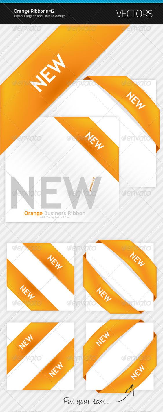 New Orange Ribbon 2 by artnook
