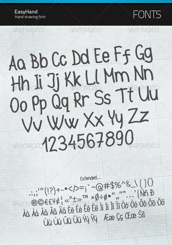 EasyHand - true type font