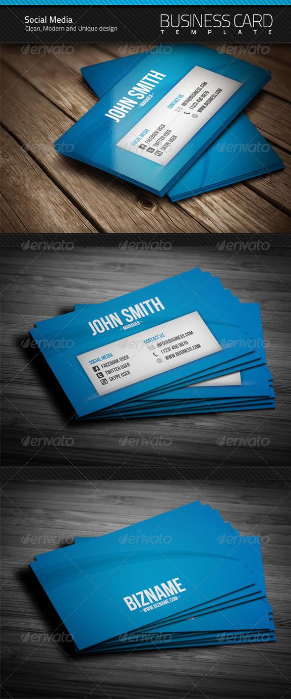 social media business card by artnook on deviantart. Black Bedroom Furniture Sets. Home Design Ideas