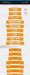 Orange Ribbons 3 by artnook