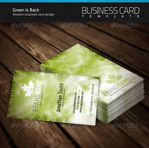 Green is Back Business Card
