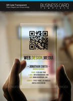 QR Transparent Business Card by artnook