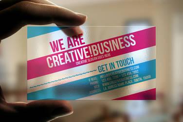 Transparent Plastic Business Card