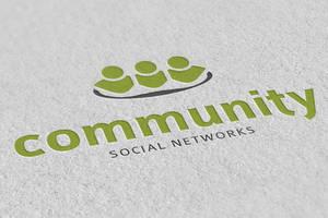 Community - Social Networks - Logo Template