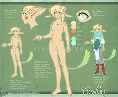 Yewon Ref Sheet by Neolucky