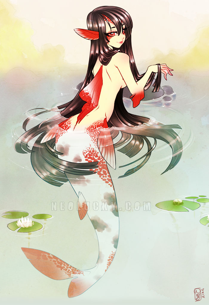 Koi Mermaid 2012 by Neolucky