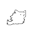 Pom Pom wolf creating pose by BurnedFireSoul