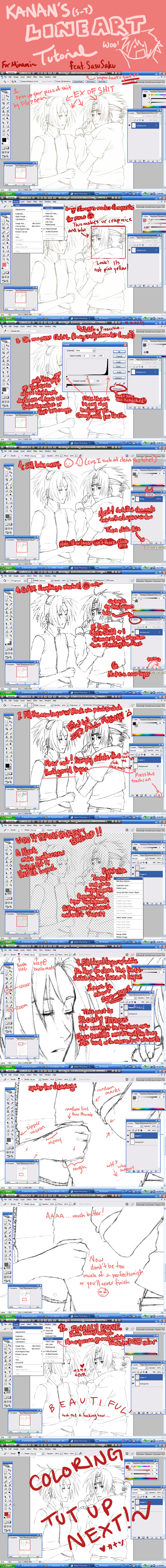 tutorial no.1: LiNEART by Sei-Tenshi