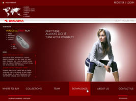 Diadora Website by zecadesign