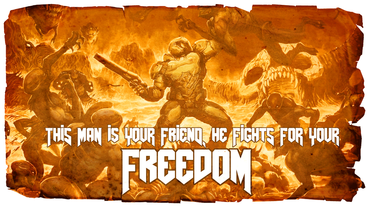 Ancient Propaganda Poster for the Doom Marine by Zorrothe2nd