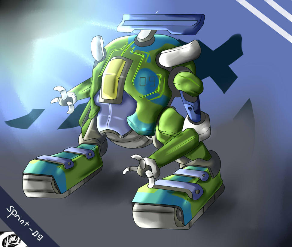Sprint - 09 : Racing Mecha by AntRiku