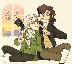robespierre + saint just by snarbs