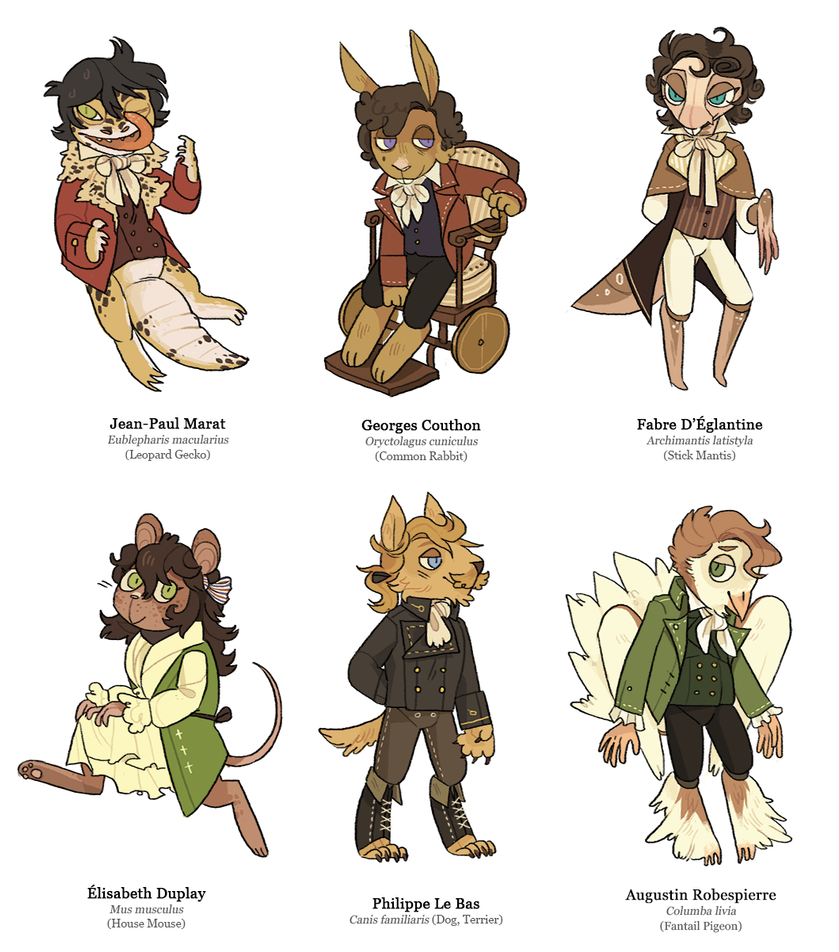 french revolutionary furries by snarbolax