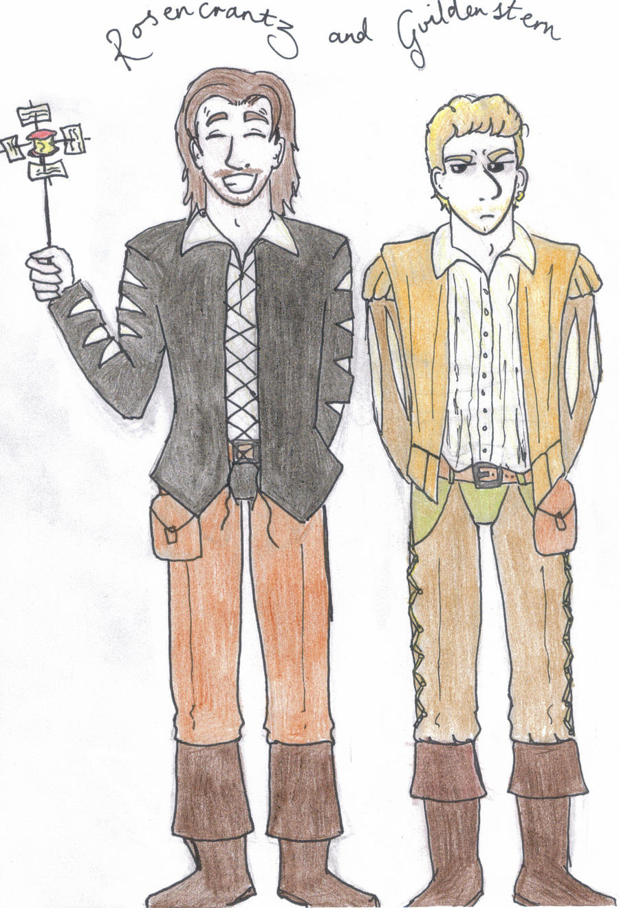 Hamlet and laertes