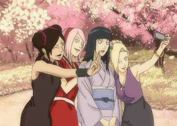 Naruto girls - Hinata's Wedding  by AquariusGem