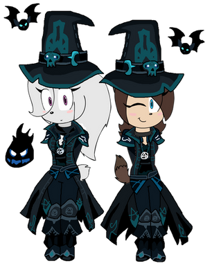 The Two Anthro Girls Are Arcane Dark Caster by teamlpsandacnl