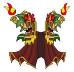 Tiki Knight Totem Cape by teamlpsandacnl