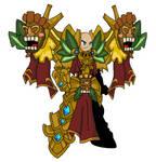 Celestial Tiki Guardian Knight by teamlpsandacnl