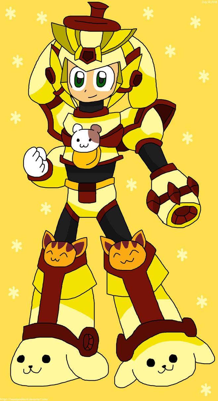 Megaman X Model Pompompurin by teamlpsandacnl