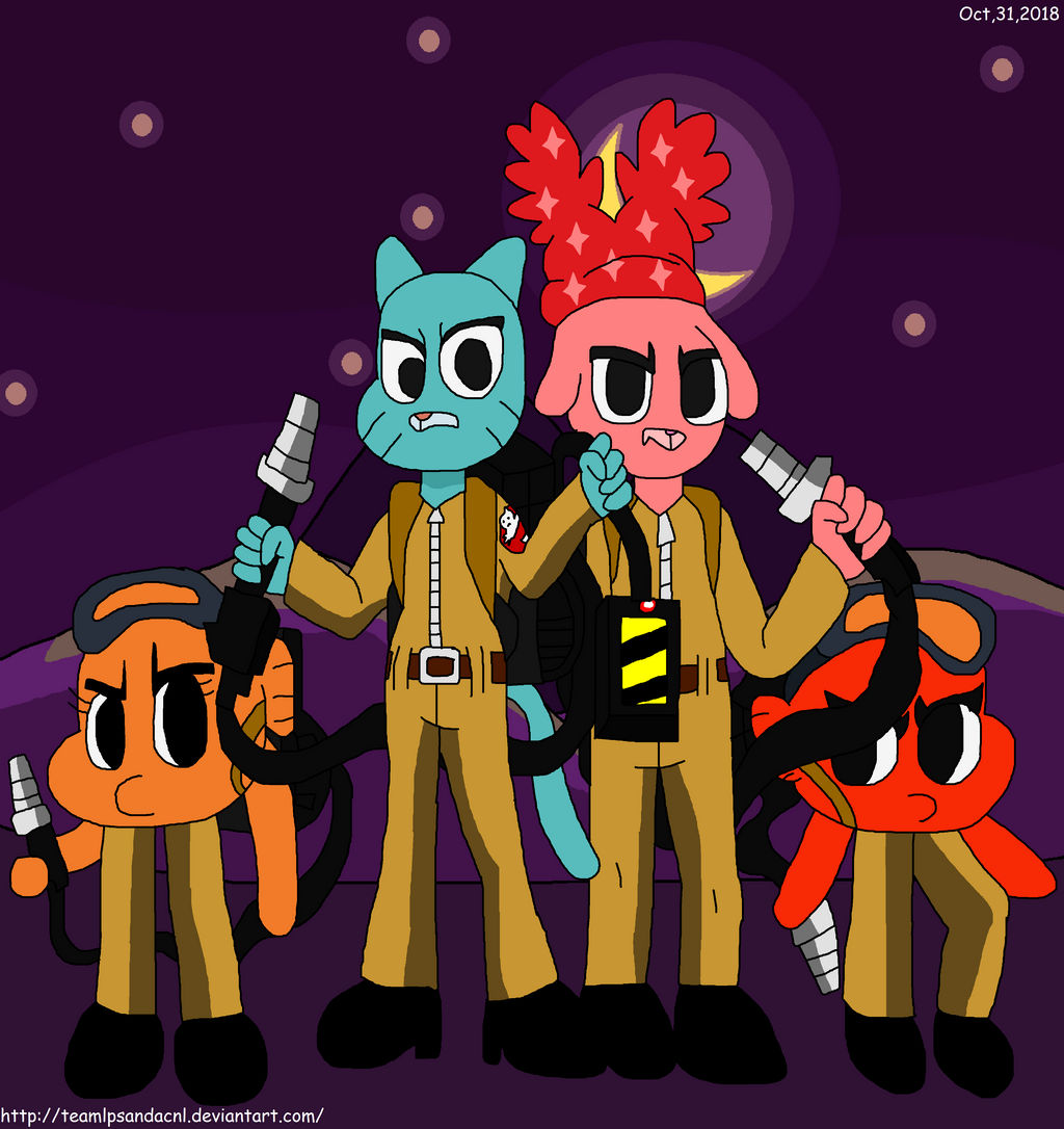 Gumball Darwin and Jason as Ghostbusters by teamlpsandacnl