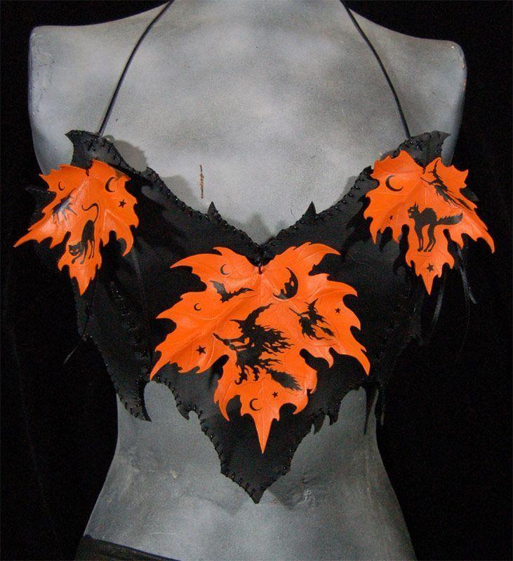 leather bat bra-halter by MidnightZodiac