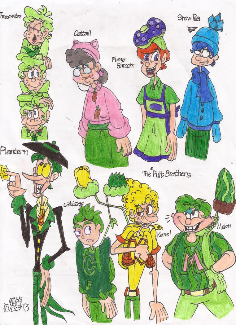 plants vs zombies humanizations 3 by niftynautilus on deviantart