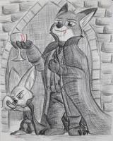 Vampire Foxes II by Rockhoppr3