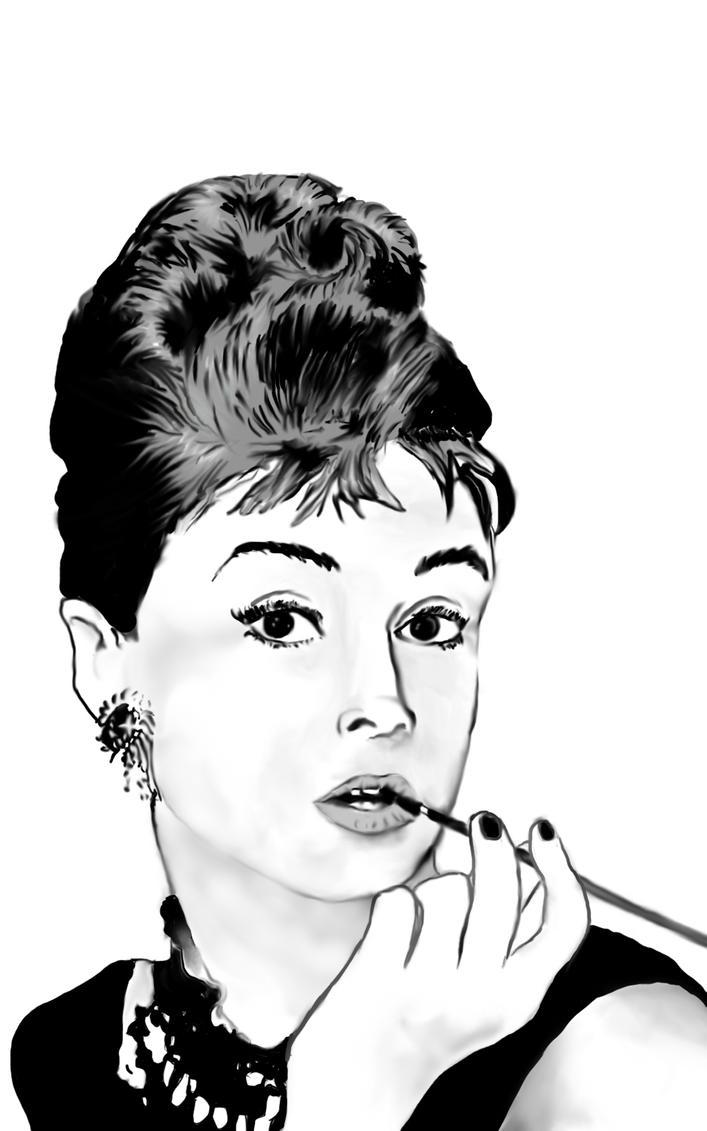 Audrey Heburn by ScarlettaRose1
