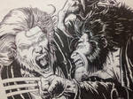 Wolverine vs Sabretooth [close-up] by FatehBlack