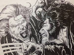 Wolverine vs Sabretooth [close-up] by FatehBlack