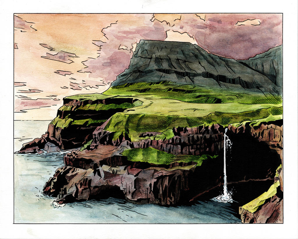 Irish Cliff Study by IanJoswick