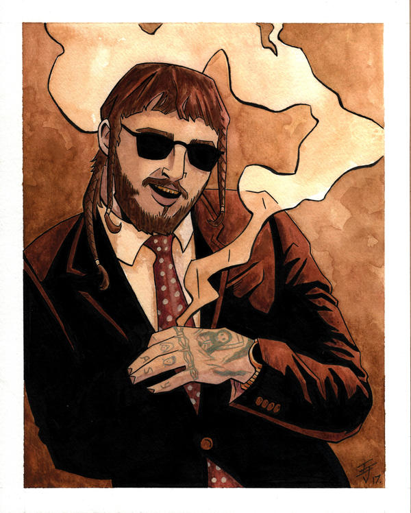 Post Malone Cartoon >> Post Malone by IanJoswick on DeviantArt